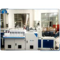 China Double Screw Plastic Extruder Machine For 16-110mm PVC Pipe  / PVC Profile wholesale