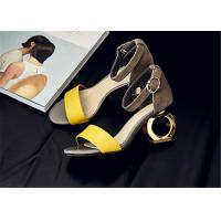 China Stylish Female Summer Fashion Sandals With O Shape Middle Heel Daily Wear wholesale
