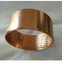 China Wrapped bronze sliding bearing with lubrication pockets Low-maintenance DIN 1494 / ISO 3547 wholesale