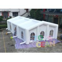China White 0.55mm PVC Giant Inflatable Tents , Large Square Inflatable Wedding Tent wholesale