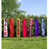 Quality Rectangle Full Color Decorative Beach Flags Hot Transfer Printing for sale
