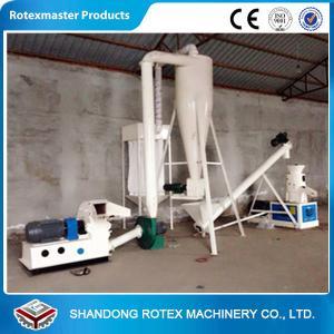 Quality 30 / 37kw White Blue Flat Die Wood Pellet Machine , Wood Pellet Production Equipment for sale