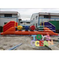 China Sporting Inflatable Interactive Games , Big Inflatable Wipe Out Roller wholesale