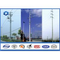 China Hot Dip Galvanized Electrical Power Pole for Transmission & Distribution wholesale