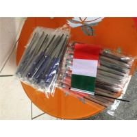 Quality Digital Printing Knitted Custom Hand Waving Flags With Plastic Poles for sale