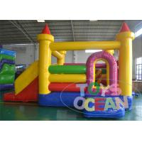 China Yellow Castle Inflatable Air Bouncer 2 Lanes Slides SGS CE Approved wholesale