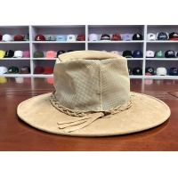 China High Quality ACE Unisex Women Men Adjustable Breathable Mesh Fabric Design Strip Bucket Fisherman Cap wholesale