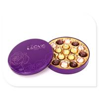 Ferrero Rocher Chocolate Tin Box With Plastic Insert Custom Printed