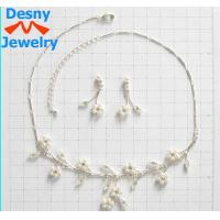 China Fashion Diamond Jewelry Crystal Necklace and Earring Set Designs for Gift wholesale