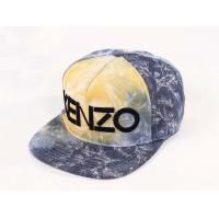 China Allover Cotton KENZO Flat Brim Baseball Hats With 3D Embroidery wholesale
