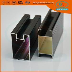China Customed  Champage brush aluminum window profile, Matt aluminum window section, window profile wholesale