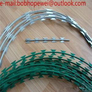 China Welded Flat Razor Wire Mesh/Concertina Coil Wire/Welded Razor Mesh/ razor sharp wire, welded razor wire on sale