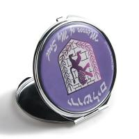 China Silver Round Double Sided Travel Mirror , Purse Compact Mirror Gift Items wholesale