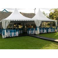 China White PVC Small Pagoda Tents For Commercial Activities Wooden Flooring wholesale
