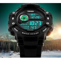 China Skmei Fashion Men Multifunction 50m Waterproof Chrono Alarm PU Strap Sport Watch Outdoor Watches 1280 wholesale