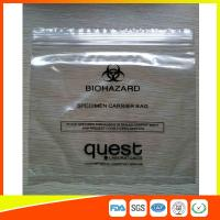 China Industrial Reclosable Plastic Specimen Bags , Packaging Zip Lock Bags FDA Approved wholesale