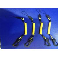 China 3.0 mm Phone Holde Hand Tool Lanyards Yellow Coating With POM Swivel Hook And Clips wholesale