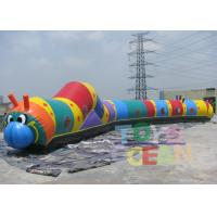China Large Inflatable Interactive Games PVC Inflatable Caterpillar Obstacle Play Tunnel wholesale
