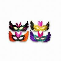 China Masks for Parties, Available in Various Colors, Made of Feather wholesale