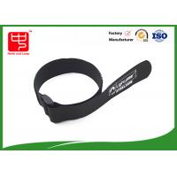 Buy cheap Black hook and loop strap one side sticky backed hook and loop , 100% nylon from wholesalers