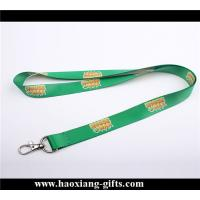 China Attractive decorative green color 20*900mm polyester printed lanyards wholesale