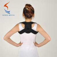 China Black color clavicle support brace S M L size back support for posture wholesale