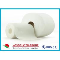 China Non Woven Embossed / Big Dot Texture Spunlace  With Viscose and Polyester wholesale
