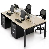 Buy cheap Customized Size Office Partition Walls / Wooden Modular Office Workstation from wholesalers