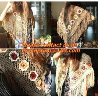 China Hand Knitted Poncho, Brown Scarf,Wool Knit, poncho wrap, Green Free Knitting Crochet Woman wholesale