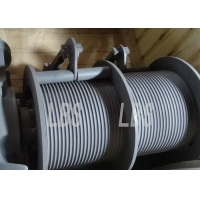 China 35m / Min Electric Wire Rope Winch Machine With Two Grooved Drums on sale