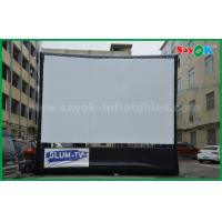 China Outdoor Inflatable Movie Screen Oxford Cloth Material WIth Frame For Projection wholesale