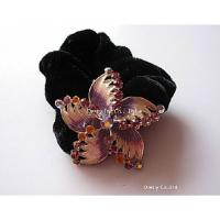 China Filigree Women's Jeweled Hair Accessories Clamps with Custom Color 20g wholesale