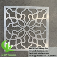 Quality 3mm hollow metal screen Aluminium panels decoration material for building wall facade cladding for sale