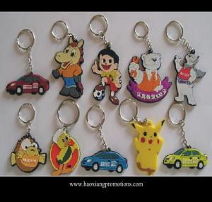 China Custom promotional silicone rubber keychain,cheap custom fashion souvenir keychain wholesale