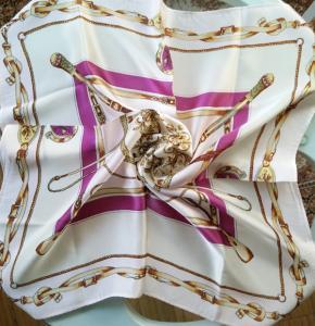 China 55x55cm small Square silk scarf, silk neckwear, silk satin scarves wholesale