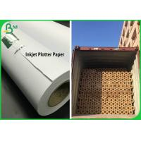 China 2 & 3 Inch Core 50GSM 80GSM Inkjet Plotter Paper Roll For Garment Drawing wholesale