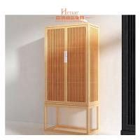 China Modern Hotel Furniture Pull Out Doors Closet Wardrobe In Natural Lacquer Finish on sale