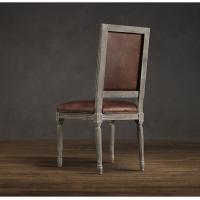 Contemporary Kitchen Chairs: Luxury Rustic High Back Leather Dining Chairs Contemporary
