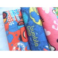 China Baby Cotton Flannel Fabric Attractive Styles Cartoon Animal Soft Double Sided wholesale
