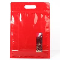 China Red Color Stand Up Ziplock Bags Food Grade Material For Potato Cracker wholesale