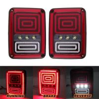 China Black LED Tail Lights Rear Light For Jeep Wrangler JK 07-16 Rear Bumper Tail Lamp wholesale