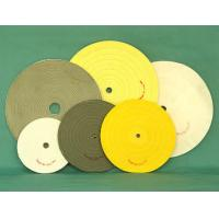 China white buff cotton stitched swen polishing wheel abrasive buff finished leather. wholesale