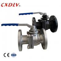 China PN25 A216 Gr.WCB Handle Lever CF3M Flanged Ball Valve wholesale