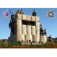 China Mil3 Military Defensive Gabion Barrier with beige color Geotextile wholesale