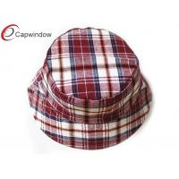 Quality Women Classical Red Fisherman Tartan Hats With Comfortable Cotton Sweatband for sale