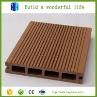Walkway outdoor wood plastic composite wpc decking made in China