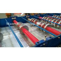 China High Speed Steel Structural Metal Deck Roll Forming Machine With Pre - Cutting wholesale