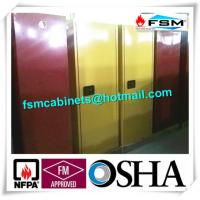 China 60 GAL Industrial Safety Cabinets , Safety Storage Cabinets For Flammable Liquids wholesale
