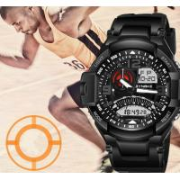 China Wholesale Synoke Men Dual time Pu Strap Multifunction Chronograph 5 ATM Waterproof Outdoor Sport Watches 67876 wholesale