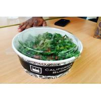 Buy cheap High / Low Temperature Resistant Take Away Paper Salad Bowls With Lids from wholesalers